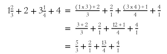 Learn how to convert whole number and mixed number to improper fraction.