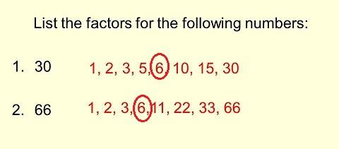 list all factors